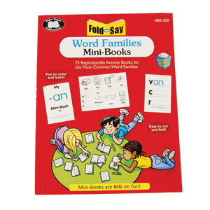 Fold and Say Word Families Mini
