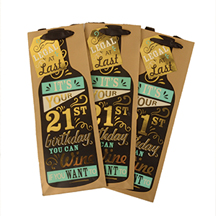 21st Birthday Paper Bottle Gift Bags