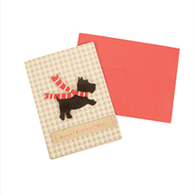 Handmade Happy Scottie Days Holiday Cards