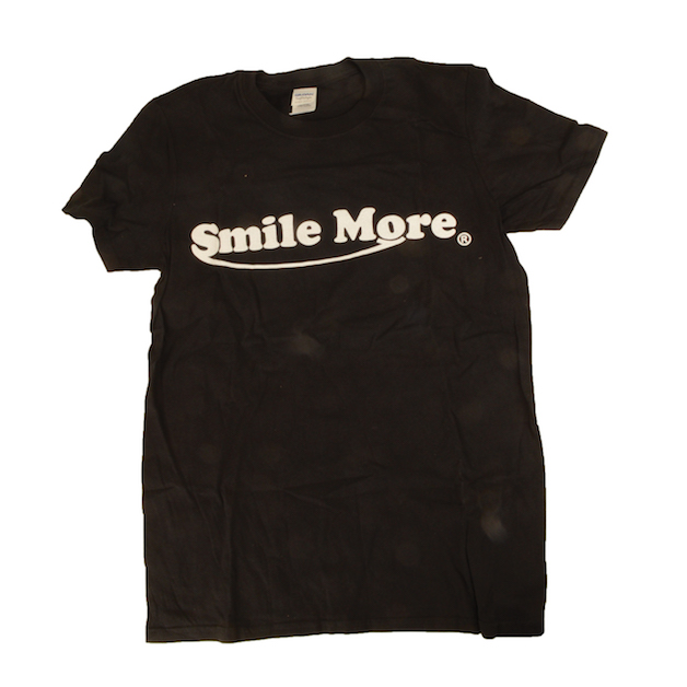 Smile More Black Tee Shirt