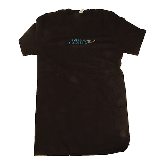 Theresa Caputo Embrace Life Black Bling Tee Shirt