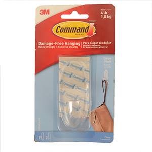 3M Command Clear Large Hook Sets
